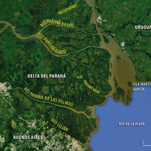 Monitoramento dos níveis do Delta do Rio Paraná