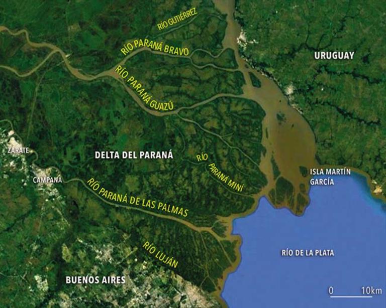 Monitoreo de niveles de la region del Delta del Paraná